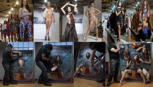 Palm Beach Invaded by Fusion Fashion Art