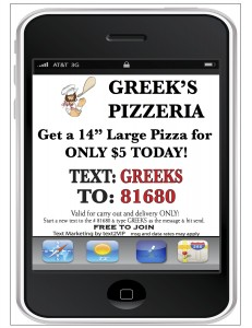 Greek's Pizza sees huge response from Text Message Marketing Program