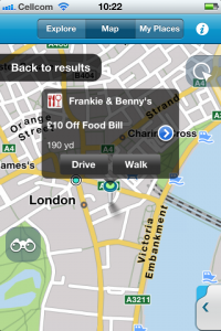 Navigation app M8 updated to offer MyVoucherCodes location-based vouchers