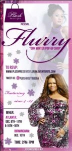 "Plush Boutique presents ""Flurry"" our Winter Pop Shop"