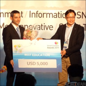 SpeakingPal Wins First in SmartContent 2011 Education Category