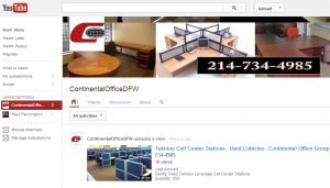 Continental Office Group Launches Used Office Furniture YouTube Channel