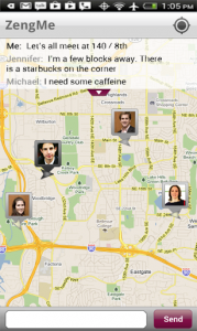 Location-Aware App Answers the Burning Question: Where are My Friends?