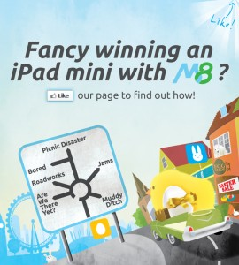 M8 UK app launches Easter iPad mini competition