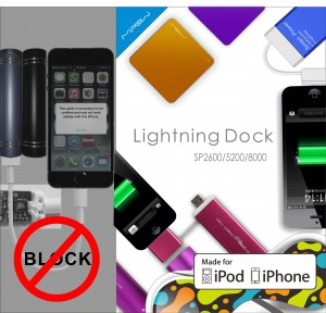 Apple iOS7 Block Knockoff Lightning, MIPOW Lightning Product Fill Up the Market