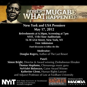 "Group to screen U.S. premiere of ""Robert Mugabe…What Happened?"""