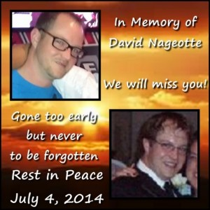 Candlelight Vigil to be Held Sunday in Lakewood for the late David Nageotte