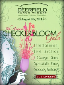 Deerfield Ranch Winery in Sonoma Valley hosts the 9th Annual Checkerbloom Gala