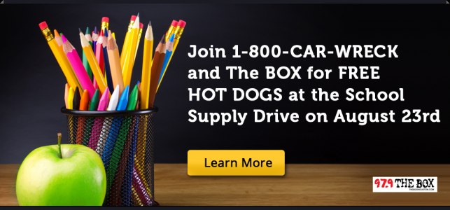 Houston Injury Lawyers of 1-800-CAR-WRECK Provide School Supplies for Kids