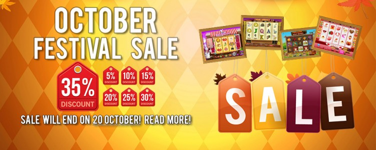 CasinoWebScripts Announces October Festival with Casino Games on Sale