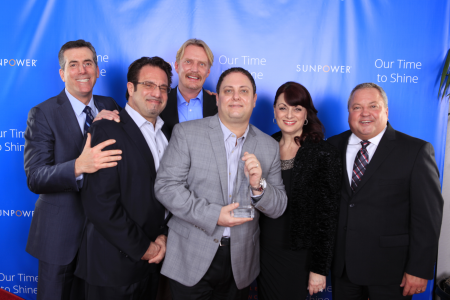 "Amergy Solar Earns SunPower ""Residential National Producer of the Year"" Award"