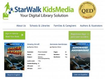 StarWalk Kids Media Introduces Bilingual  (Spanish-English) eBook Collection