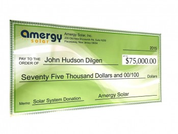 Amergy Donates $75,000 Solar System to a Family Coping with Disease