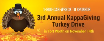 1-800-CAR-WRECK to Sponsor 3rd Annual KappaGiving Turkey Drive