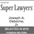Veteran Trial Lawyer Joseph Osborne Named A 2016 Florida Super Lawyer