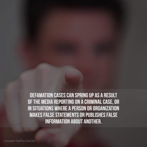 How Defamation Can Play a Role in Criminal Cases