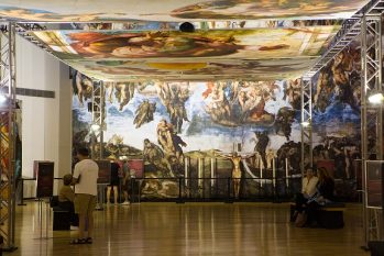 Surprise Guests With Michelangelo's Sistine Chapel: The Exhibition In Dallas