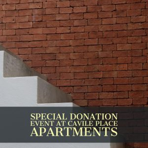 Eberstein & Witherite Announces Special Donation Event at Cavile Place Apartments