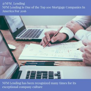 NFM Lending Ranked One Of The Top 100 Mortgage Companies In America For 2016
