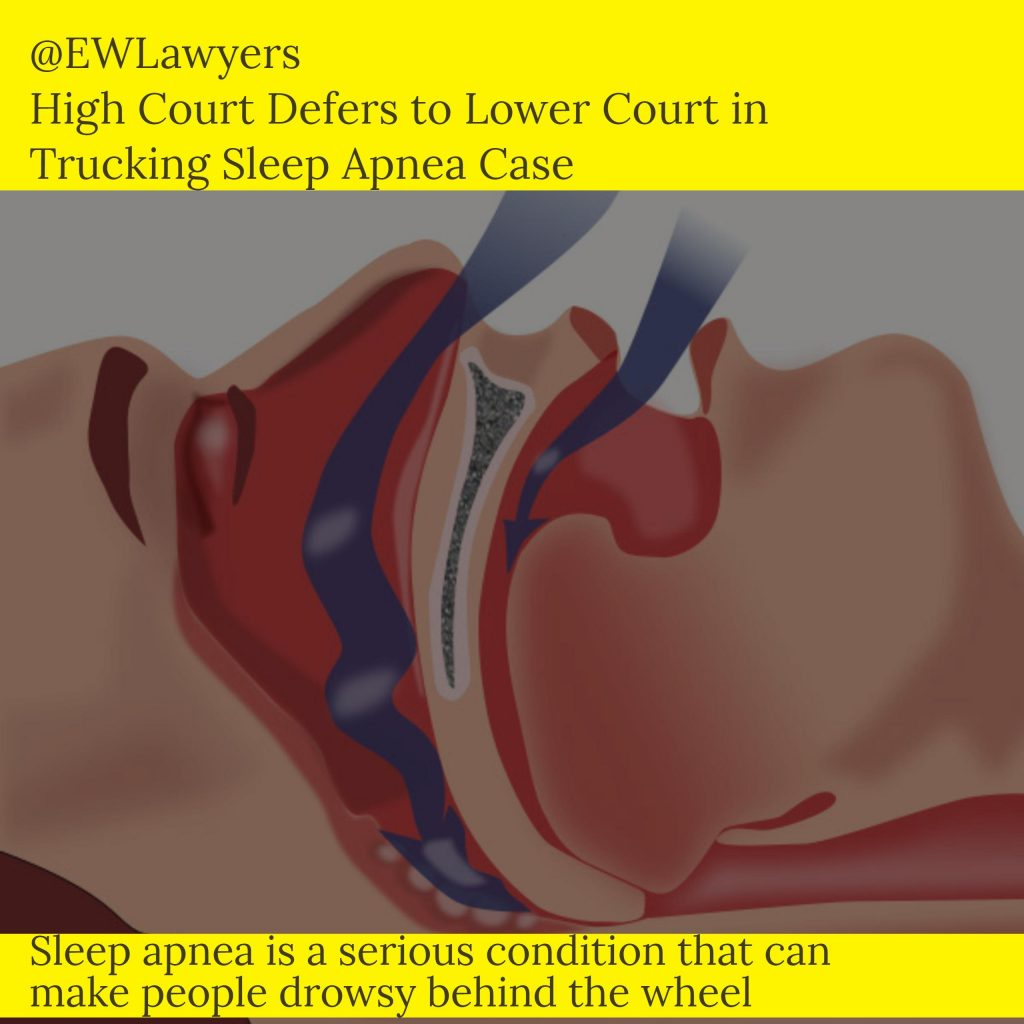 SCOTUS Refuses To Hear Trucking Sleep Apnea Case