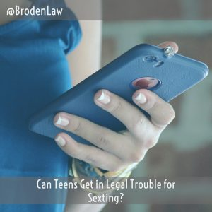 Can Teens Get In Legal Trouble For Sexting?