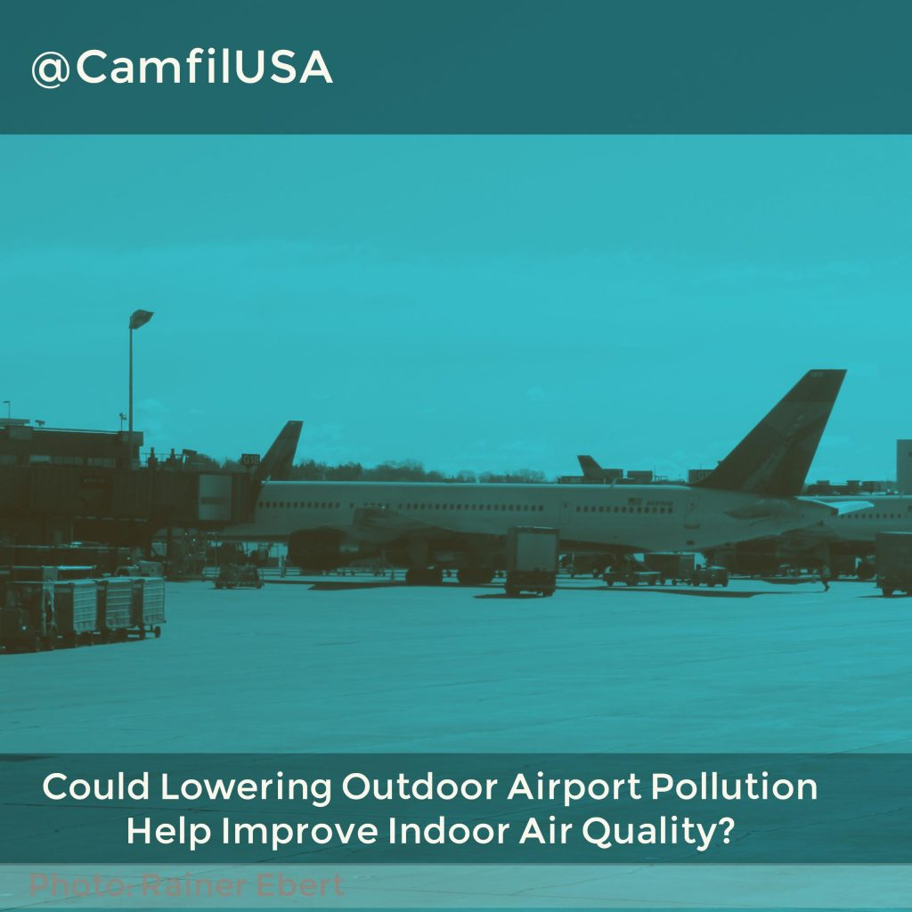 Could Lowering Outdoor Airport Pollution Help Improve Indoor Air Quality?