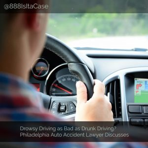 Drowsy Driving as Bad as Drunk Driving? Auto Accident Lawyer Discusses