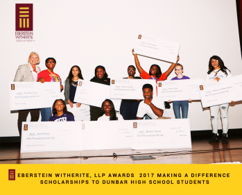 Eberstein Witherite, LLP Awards 2017 Scholarships To Dunbar High School Students