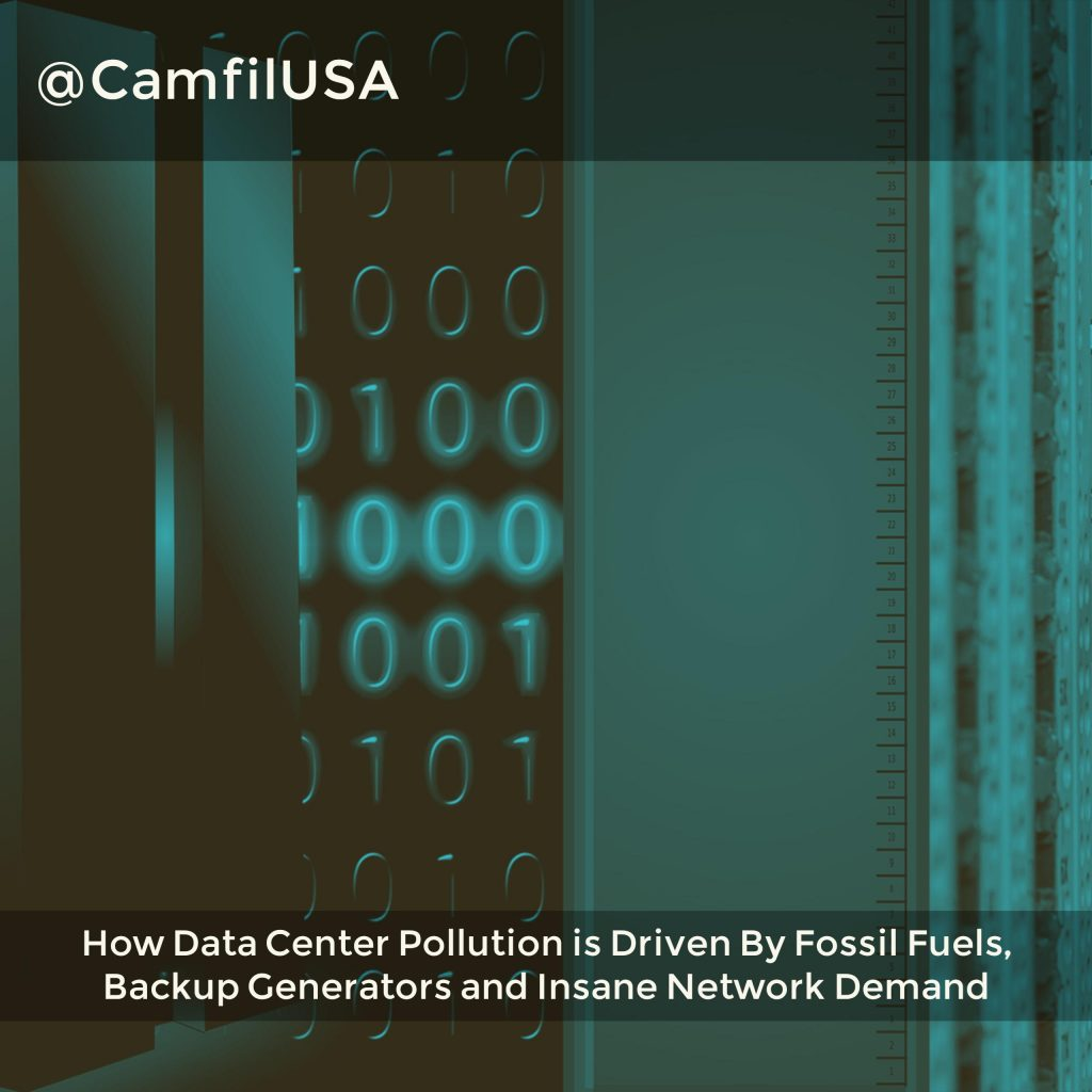 How Data Center Pollution Is Driven By Fossil Fuels And Insane Network Demand