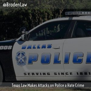 Texas Law Makes Attacks On Police A Hate Crime