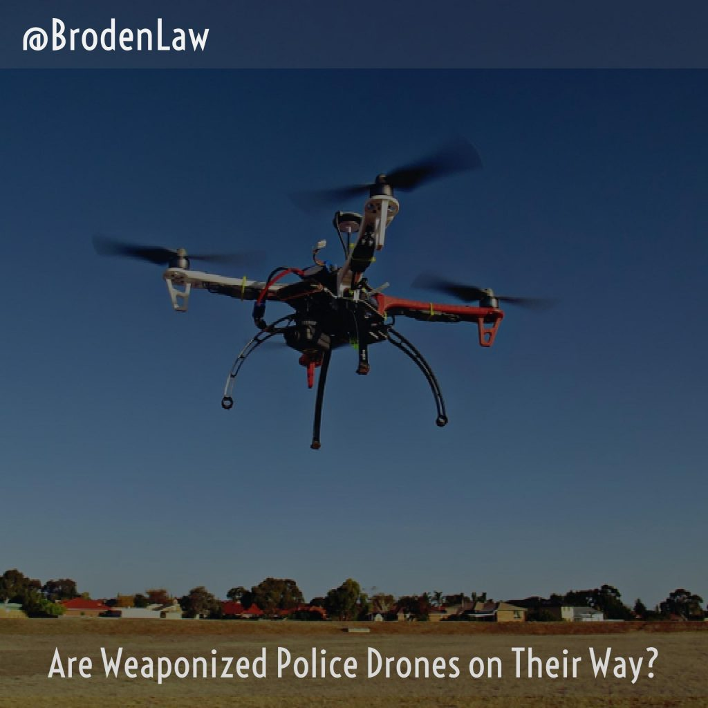 Are Weaponized Police Drones On Their Way?