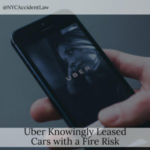 Uber Knowingly Leased Cars With A Fire Risk