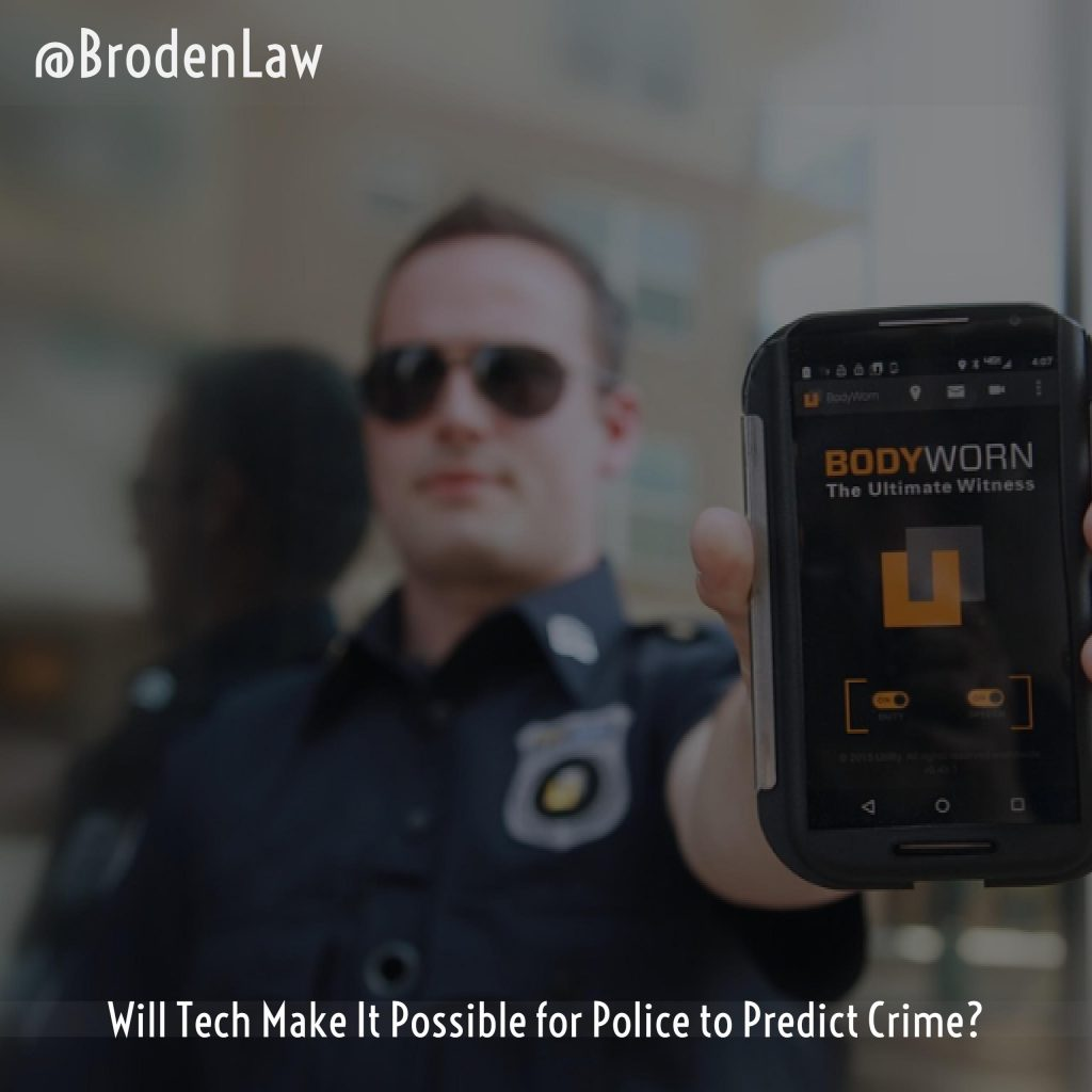 Will Tech Make It Possible For Police To Predict Crime?