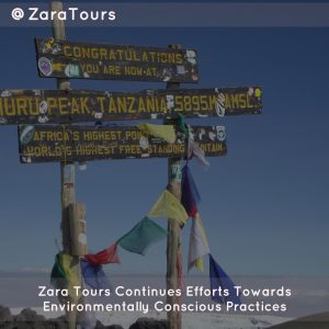 Zara Tours Continues Efforts Towards Environmentally Conscious Practices