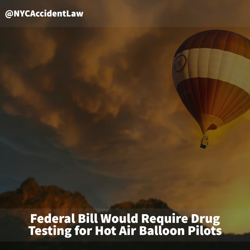 Federal Bill Would Require Drug Testing For Hot Air Balloon Pilots