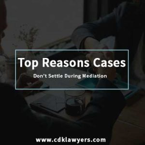 Dallas Employment Lawyer – Top Reasons Cases Don't Settle During Mediation