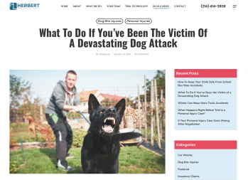 Herbert Law Group Brings Awareness of How Victims of Aggressive Dog Attacks Can Recover Damages