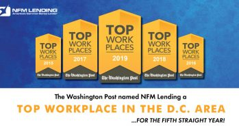 NFM Lending Named a Top Workplace in the Washington, D.C. Area for 2019