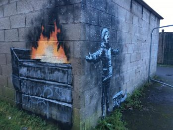 Banksy Mural Creatively Draws Attention To Air Pollution