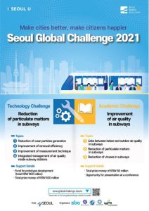 'Seoul Global Challenge 2021' Is Launching with Total Prize of 690 Million KRW