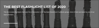 1Lumen.com Announces the Best Flashlights of 2020